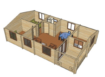 Build Your Own Log Cabin Log Home Office Log Buildings Copperwood